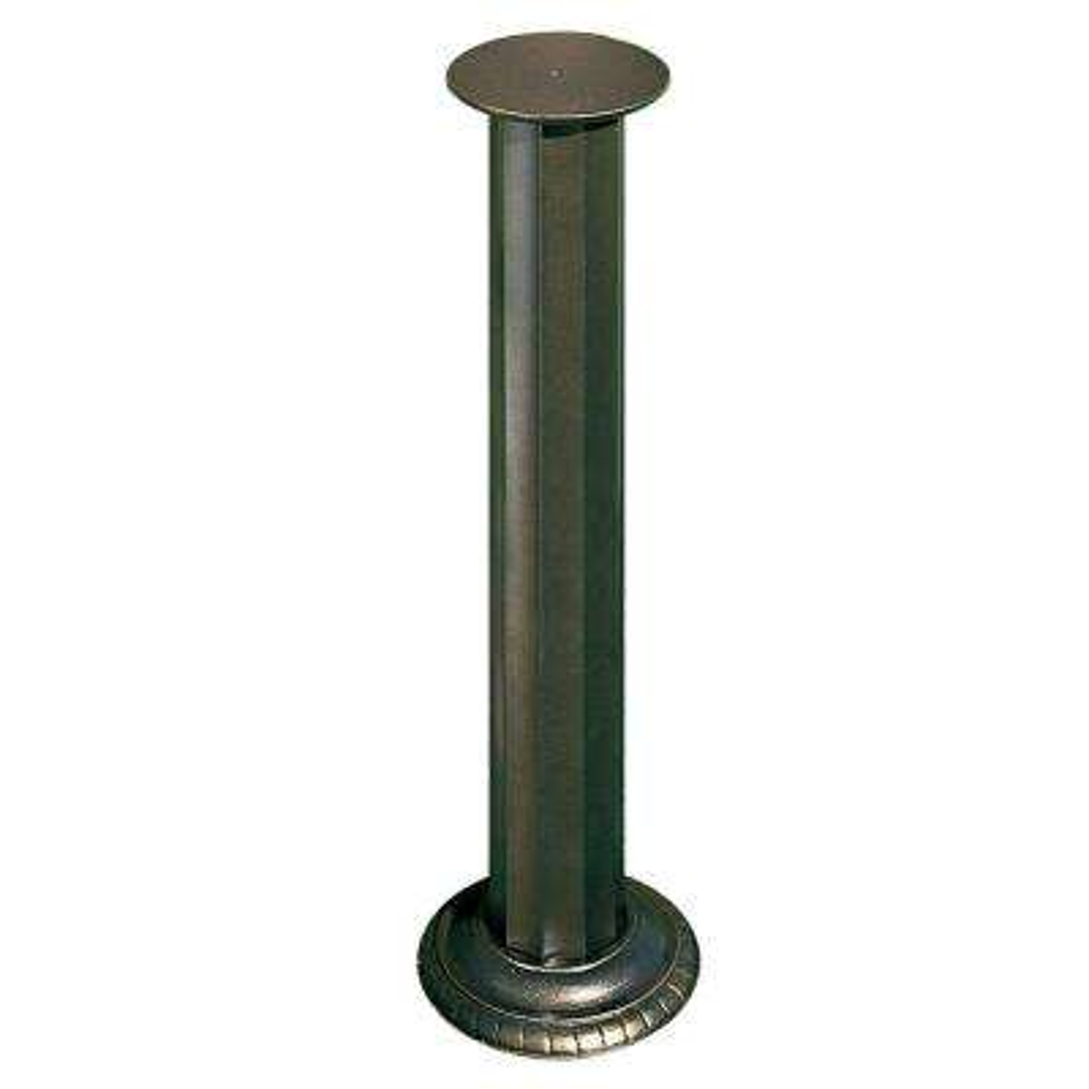 French Bronze Aluminum Roman Sundial Pedestal