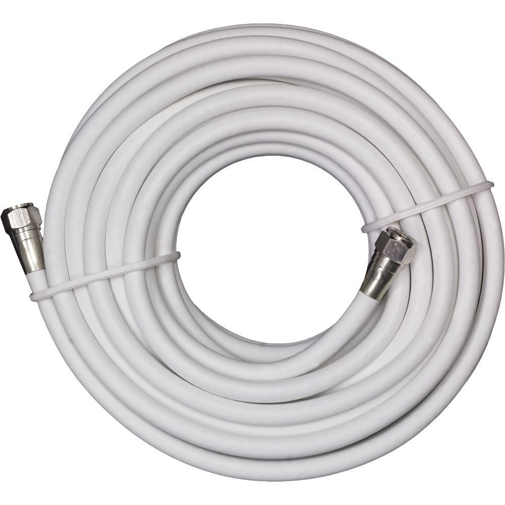 GE 25 ft. White RG-6 Coaxial Video Cable