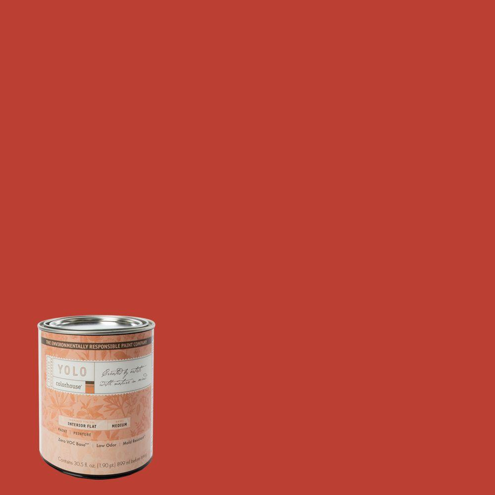YOLO Colorhouse 1-Qt. Petal .06 Flat Interior Paint-DISCONTINUED