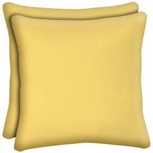 Daffodil Solid Outdoor Throw Pillow (2-Pack)