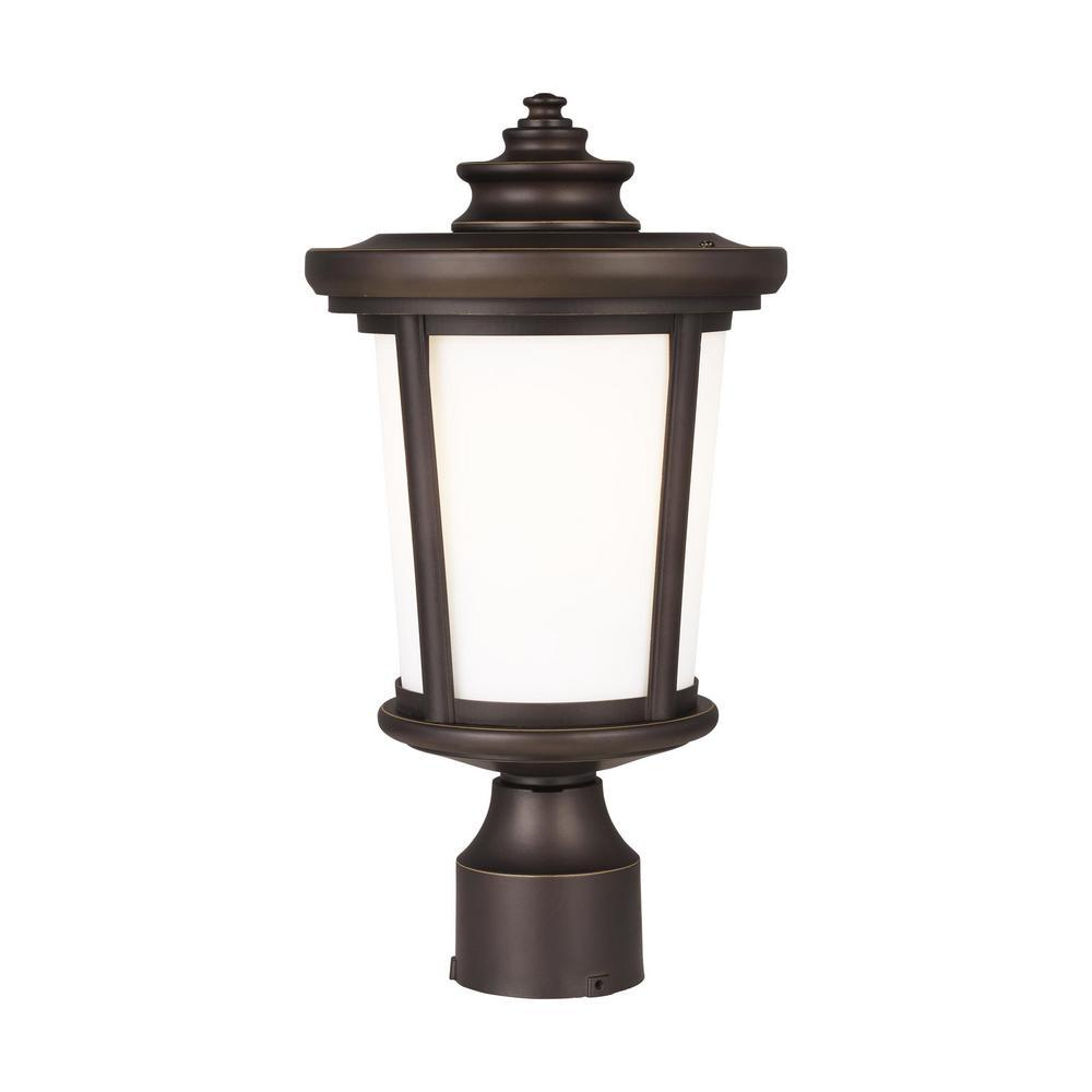 Eddington 1-Light Antique Bronze Outdoor Post Lantern
