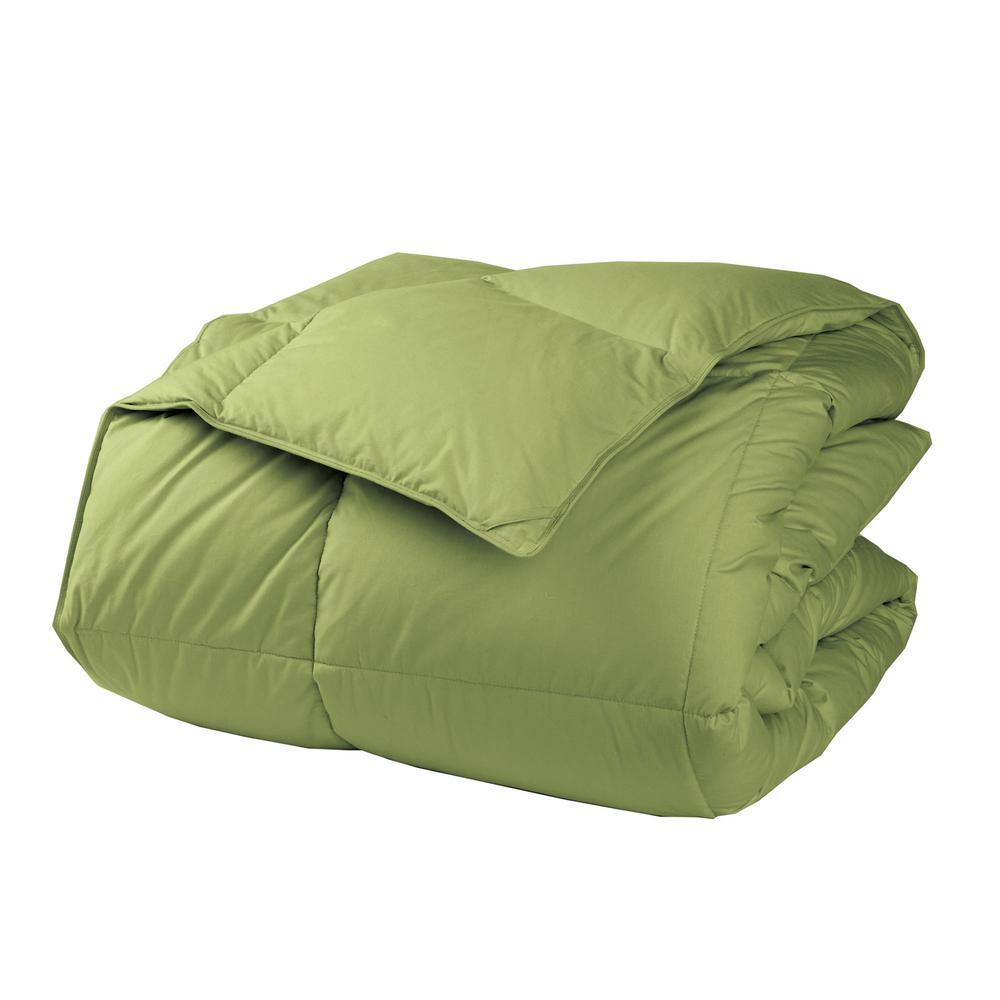 LaCrosse LoftAIRE Light Warmth Fern Green Twin Down Alternative Comforter