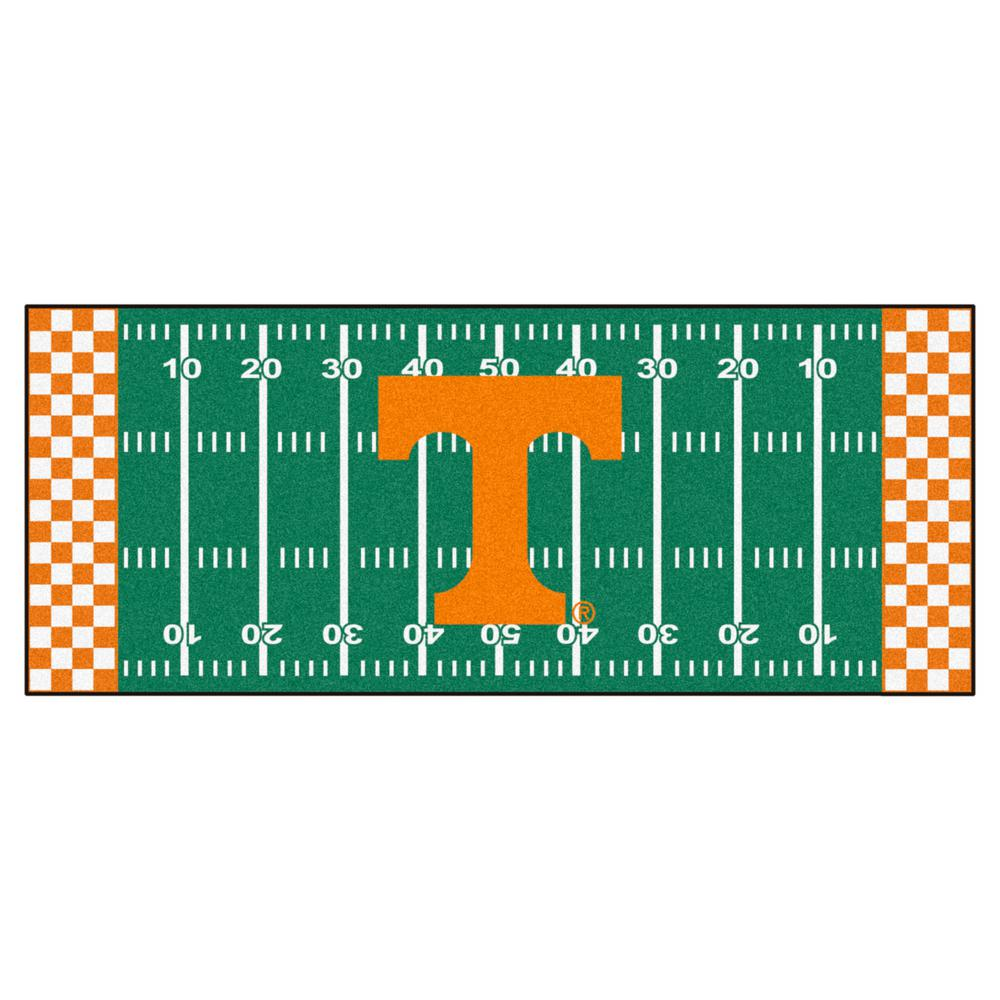 FANMATS University of Tennessee 2 ft. 6 in. x 6 ft. Football Field Rug Runner