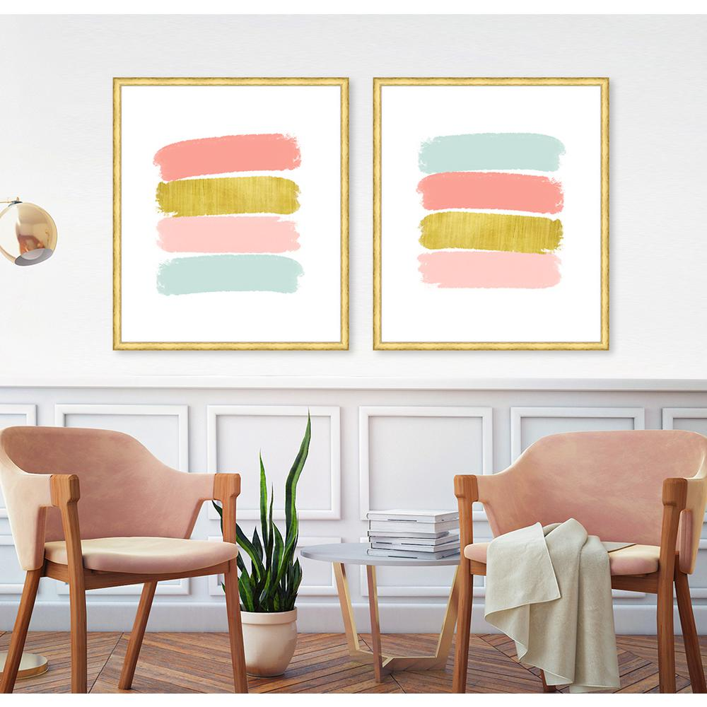 """37 in. x 32 in. """"Paint Swashes IV"""" Framed Giclee Print"""