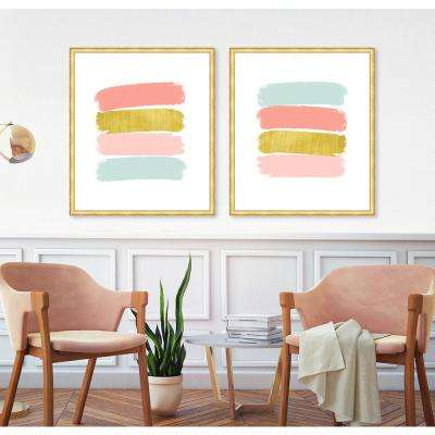 "37 in. x 32 in. ""Paint Swashes IV"" Framed Giclee Print Wall Art"