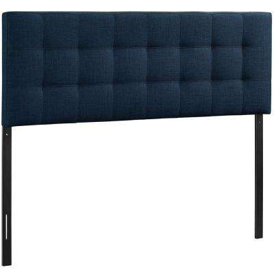 Lily Navy Queen Upholstered Fabric Headboard
