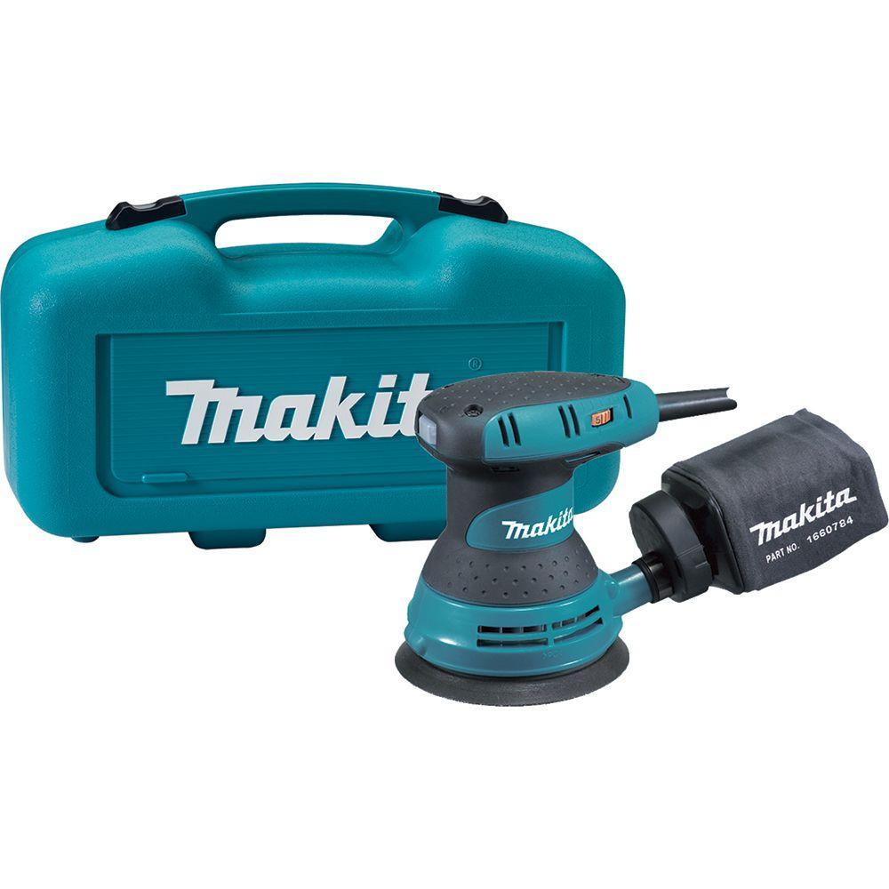 Makita 3 Amp 5 inch Corded Random Orbital Sander with Variable Speed Tool Case by Makita