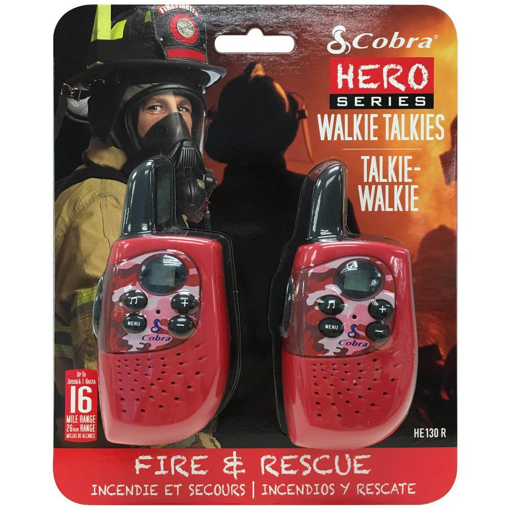 Cobra Kids Fire and Rescue Hero 16-Mile Range 2-Way Radio (2-Pack) by Cobra
