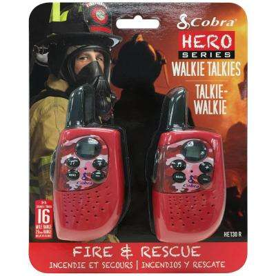 Kids Fire and Rescue Hero 16-Mile Range 2-Way Radio (2-Pack)