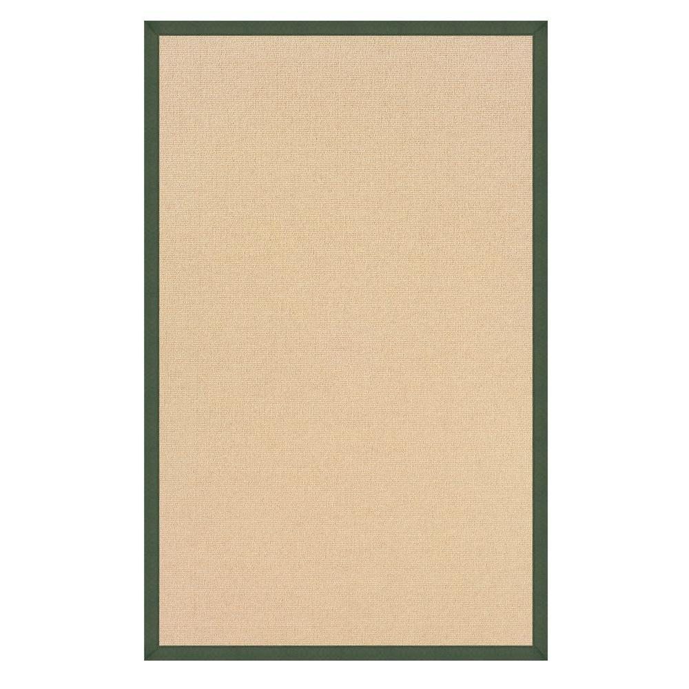 Linon Home Decor Athena Natural and Green 5 ft. x 8 ft. Area Rug