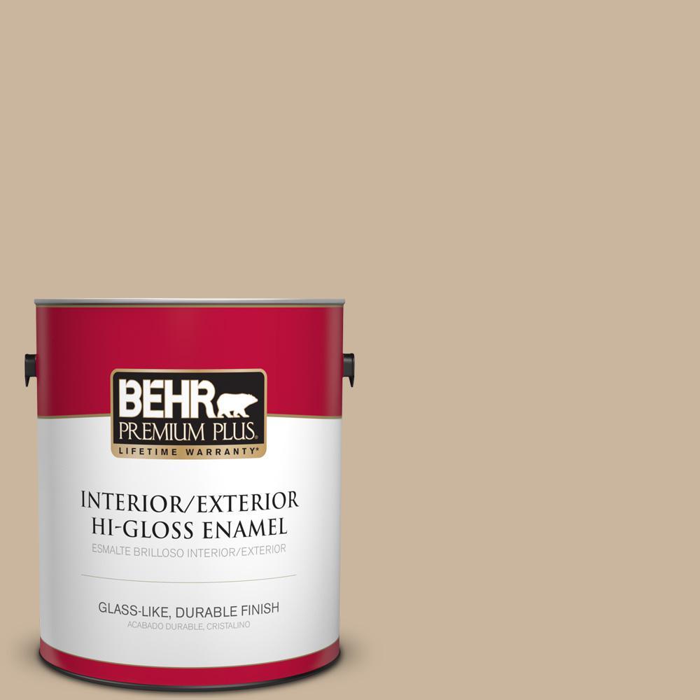 1 gal. #PPU4-07 Mushroom Bisque Hi-Gloss Enamel Interior/Exterior Paint