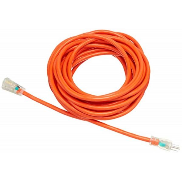 WEN 100 ft. 12-Gauge Heavy-Duty SJTW Outdoor 12/3 Extension Cord with NEMA 5-15R Light-Up Power Outlet
