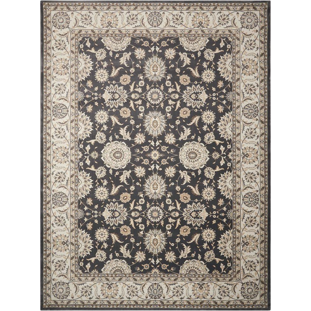 Nourison Persian Crown Charcoal/Ivory 5 Ft. X 7 Ft. Area