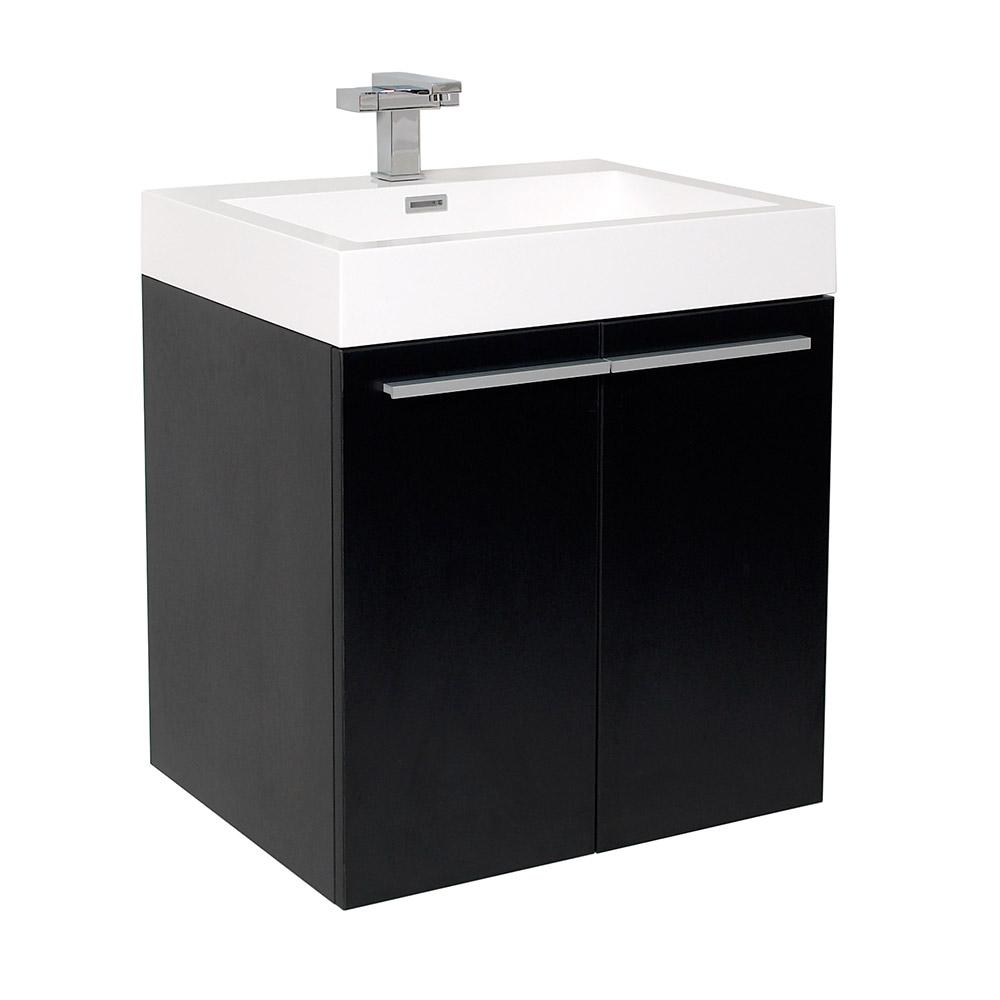 black bathroom sink cabinet fresca alto 23 in bath vanity in black with acrylic 12327