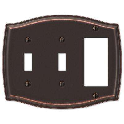 Sonoma 2 Toggle 1 Decora Combination Wall Plate - Aged Bronze