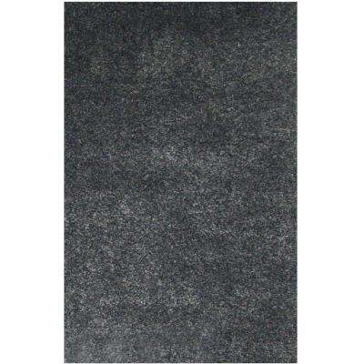 Comfort Shag Charcoal 7 ft. 9 in. x 10 ft. 6 in. Area Rug