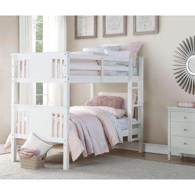 Dylan White Twin Bunk Bed