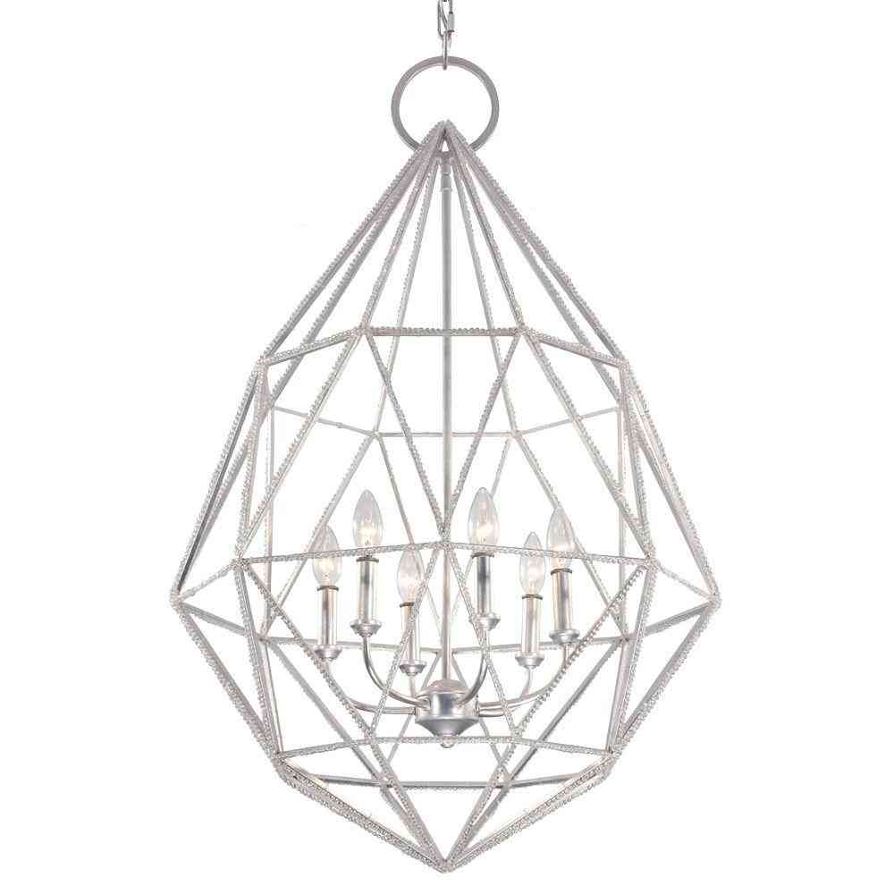 Feiss Marquise 6-Light Silver Large Pendant - Sale: $299.00 USD (77% off)