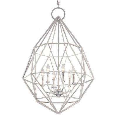 Marquise 6-Light Silver Large Pendant
