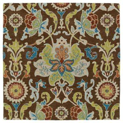 Taj Chocolate 9 ft. 9 in. x 9 ft. 9 in. Square Area Rug