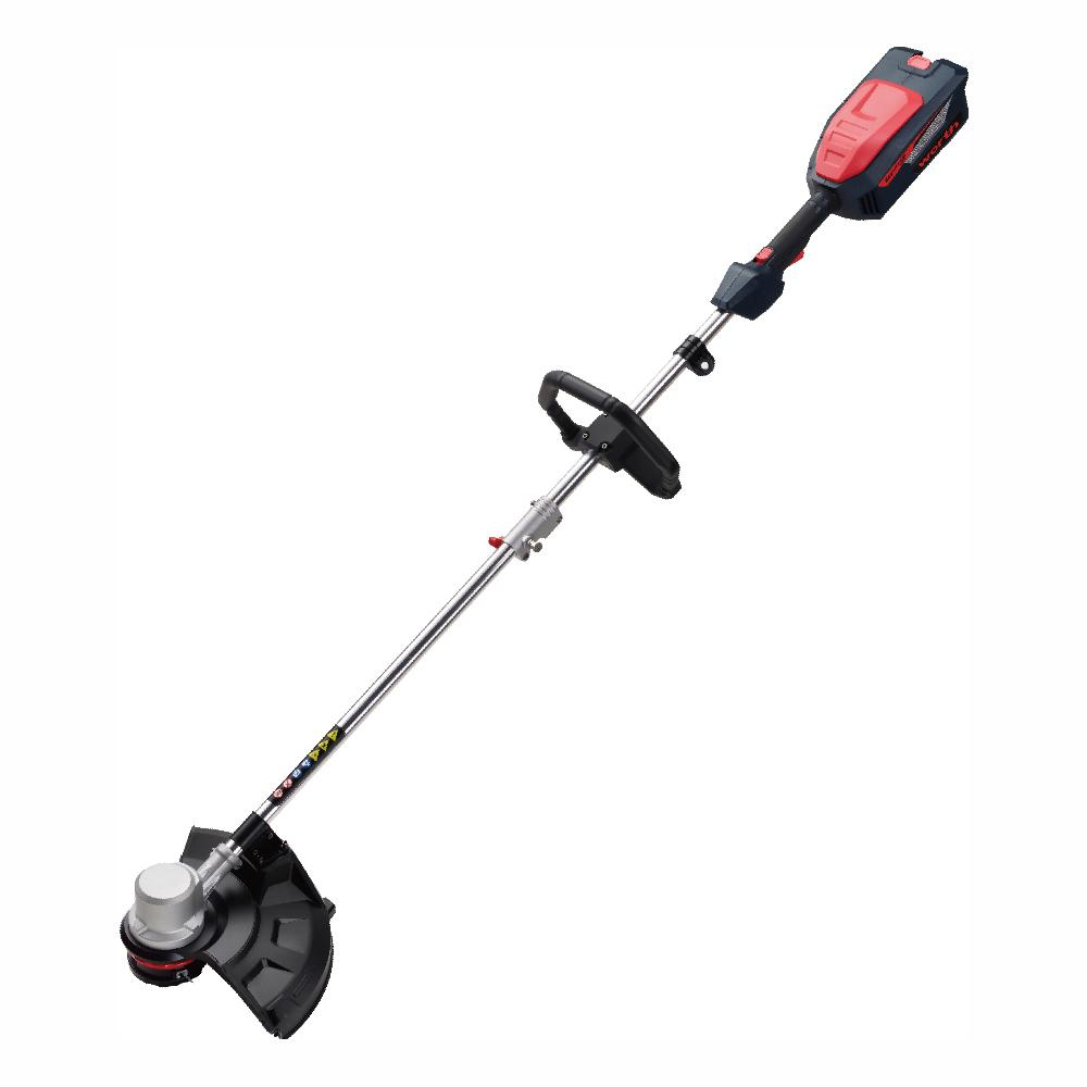 Worth Garden Red and Black 16 in. 84-Volt Lithium-ion Electric Cordless Brush-less Motor String Trimmer Set