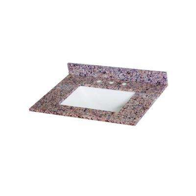 31 in. Stone Effects Vanity Top in Capri with White Basin