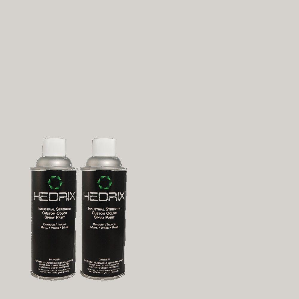 Hedrix 11 oz. Match of 760E-2 Manhattan Mist Flat Custom Spray Paint (2-Pack)