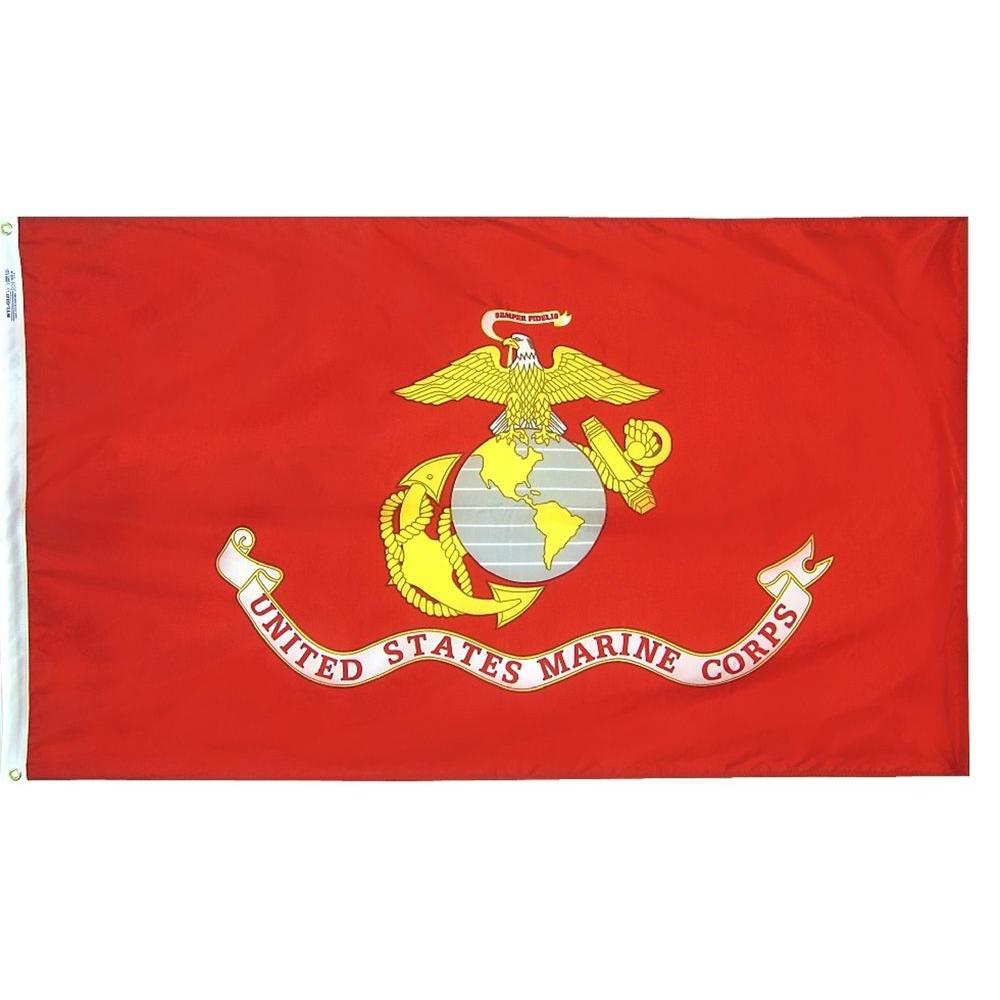 Annin Flagmakers 4 ft. x 6 ft. U.S. Marine Corps Armed Forces Flag ... 75f8addf94b