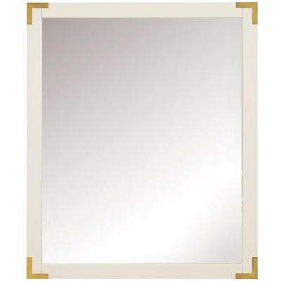 Chatham 36 in. H x 30 in. W Single Framed Mirror in White