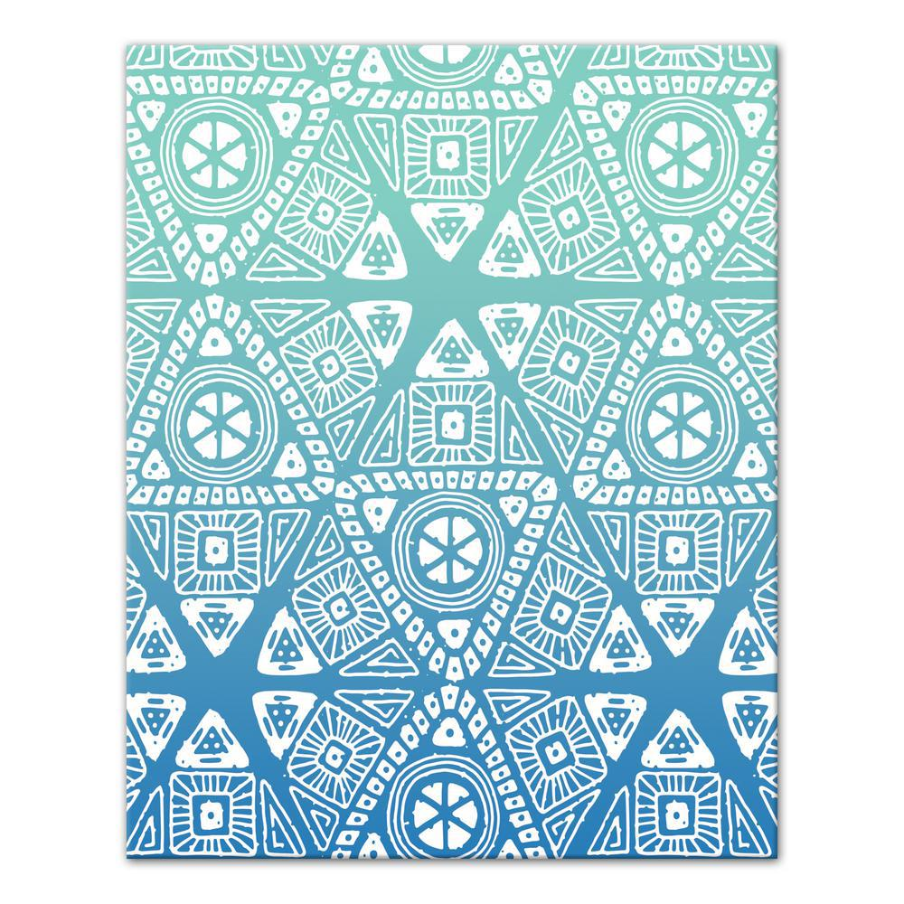 designs direct 16 in x 20 in blue sunset tribal pattern