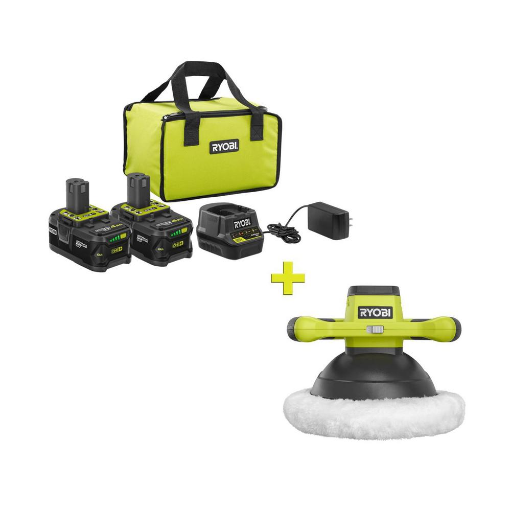 RYOBI 18-Volt ONE+ High Capacity 4.0 Ah Battery (2-Pack) Starter Kit with Charger and Bag with FREE ONE+ 10 in Orbital Buffer was $266.97 now $99.0 (63.0% off)