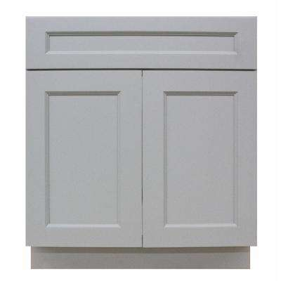 Modern Craftsman  Ready to Assemble 33x34.5x24 in. Sink Base Cabinet with 2 Door in Gray