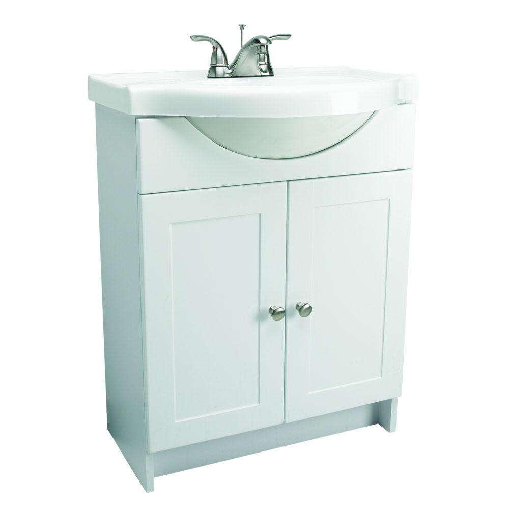 Design house 31 in euro style vanity in white with - What is vanity in design this home ...