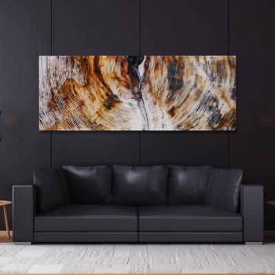 """63 in. x 24 in. """"Impact B"""" Frame-less Free Floating Tempered Glass Panel Graphic Art"""