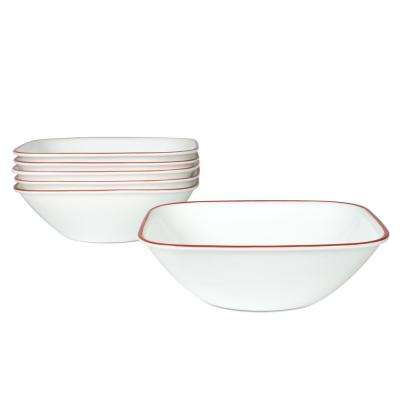 Square 22-Oz Cereal and Soup Bowls Splendor (Set of 6)