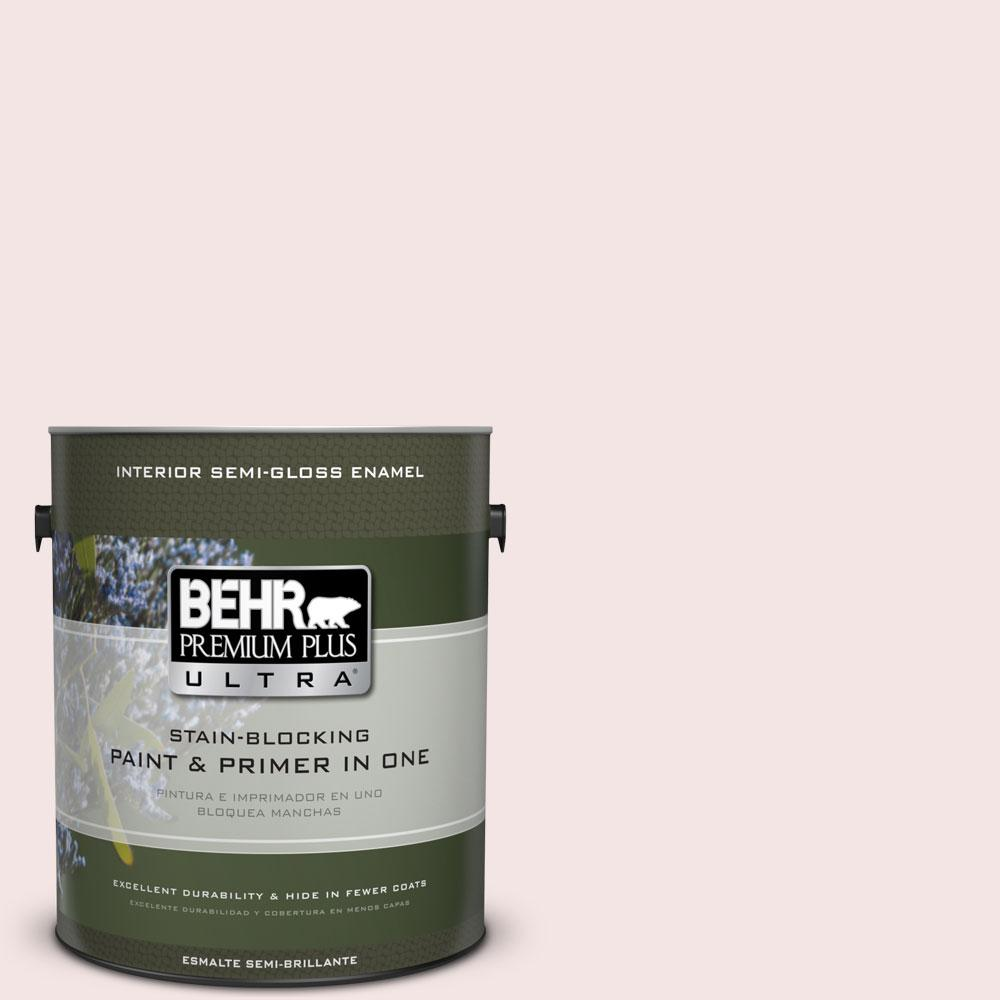 BEHR Premium Plus Ultra 1-gal. #170E-1 Reverie Pink Semi-Gloss Enamel Interior Paint