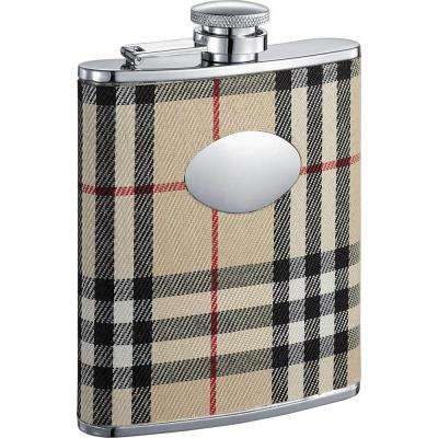 Gabriella Plaid Wrap Liquor Flask