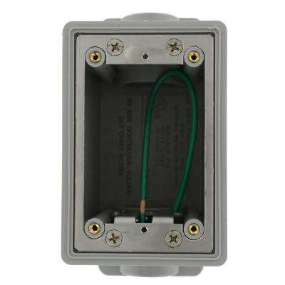 Single Gang Industrial Grade FD Box with 26.0 cu. in. Capacity, Gray