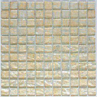 12 in. x 12 in. x 8 mm Tile Esque Gold and Silver Weave Metallic Glass Mesh-Mounted Mosaic Tile