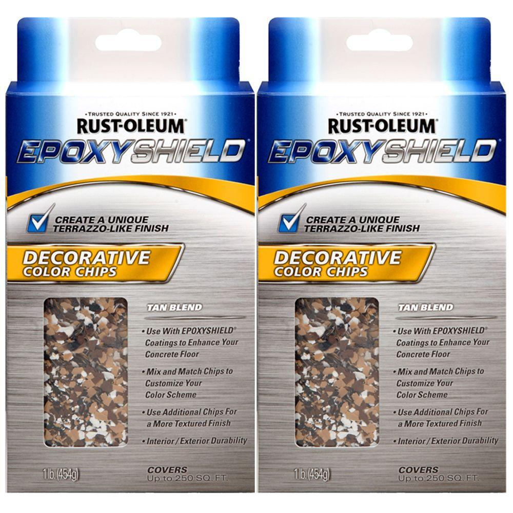 Rust-Oleum 1 lb. Tan Blend Latex EpoxyShield Color Chips (2-Pack)-DISCONTINUED