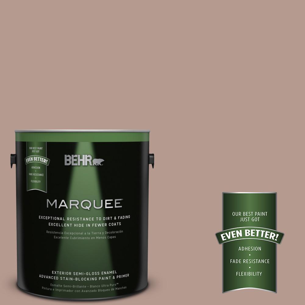 1-gal. #MQ1-55 Lite Cocoa Semi-Gloss Enamel Exterior Paint