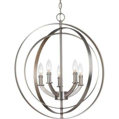 Equinox 5-Light Burnished Silver Orb Chandelier