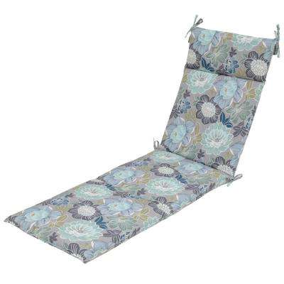 Charleston Floral Outdoor Chaise Lounge Cushion