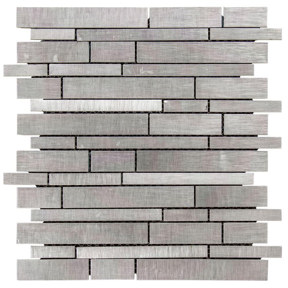 jeffrey court silver chain 12 in x 12 in x 8 mm metal mosaic wall tile99589 the home depot