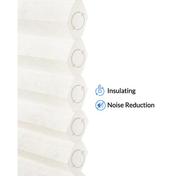 Chicology Cut To Size Winter White Cordless Light Filtering Privacy Cellular Shades 28 In W X 48 In L Ct Lt I 28 48 The Home Depot