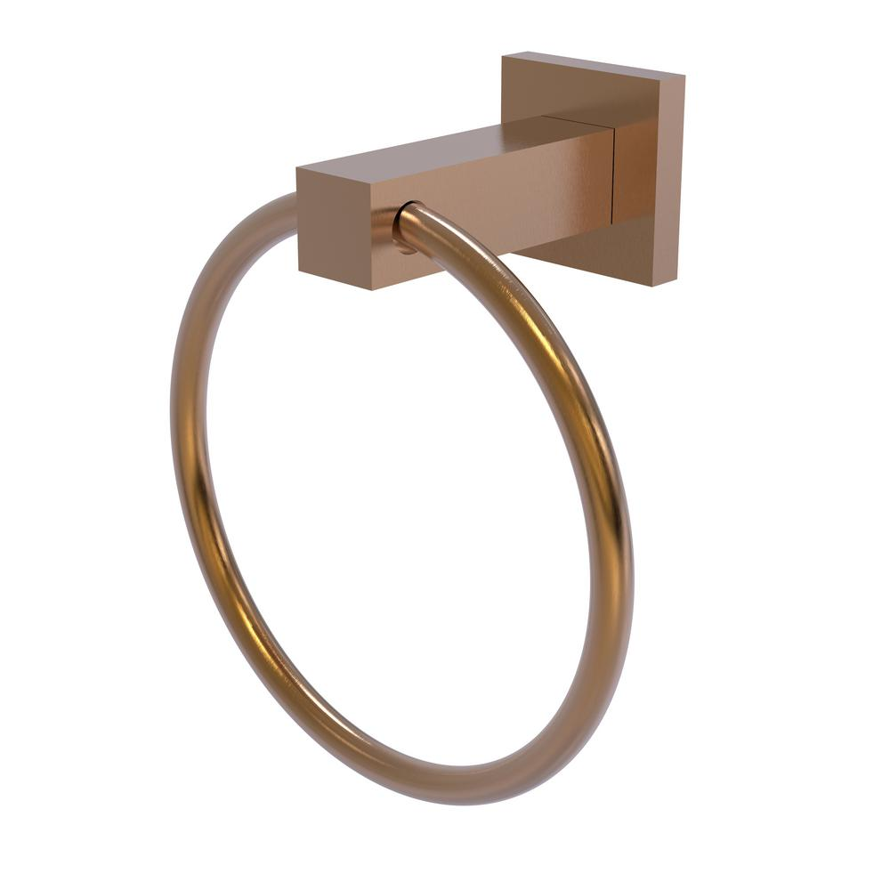 Allied Brass Montero Collection Towel Ring in Brushed Bronze