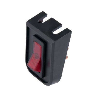 20 Amp Red Illuminated Toggle Switch and Bezel