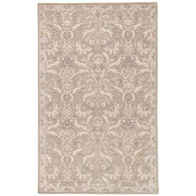 Neutral Gray 4 ft. x 6 ft. Oriental Area Rug