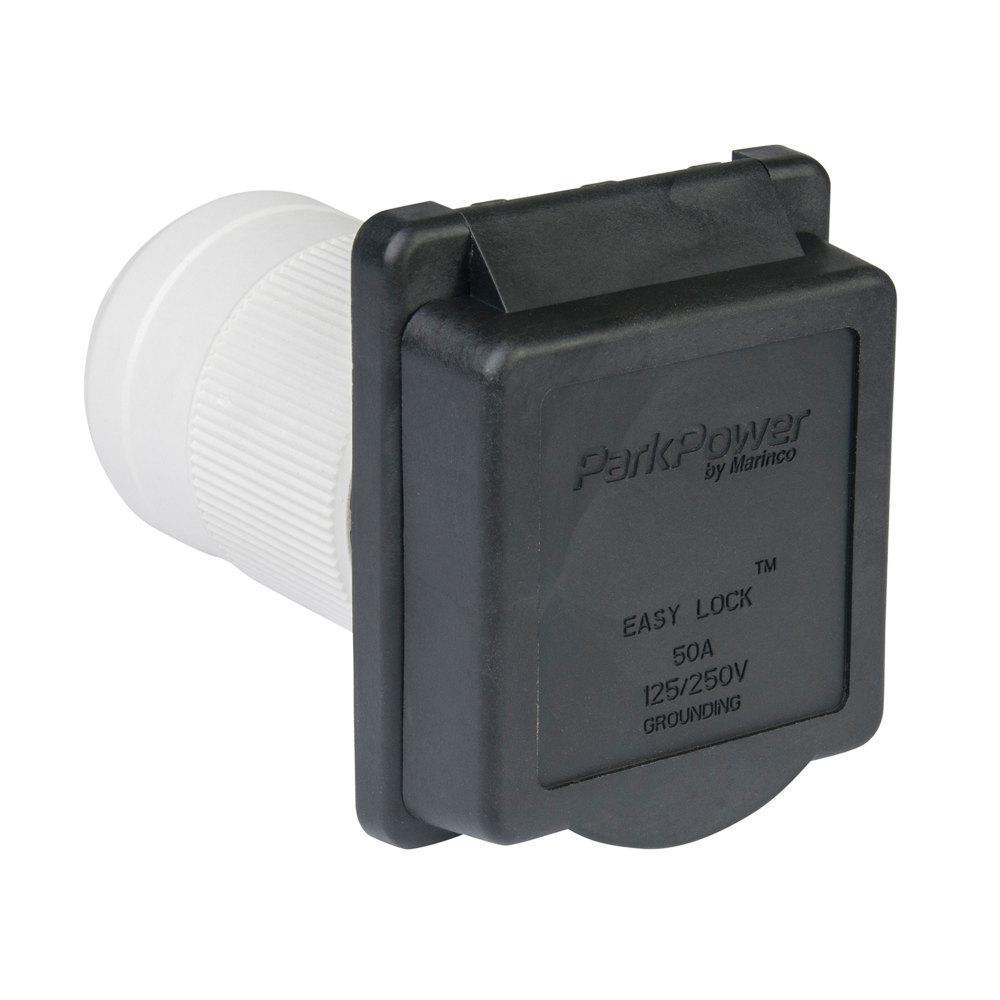 50 Amp Weekender Power Inlet in Black