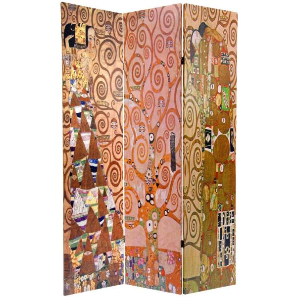 Oriental Furniture 6 ft. Printed 3-Panel Room Divider CAN-KLIMT3